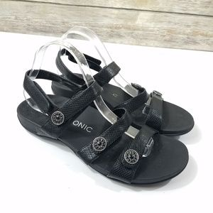 Vionic Cathy Sandals Black Comfort Shoes Strappy